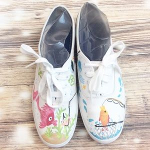 Keds Hand Painted Bait & Tackle Canvas Sneakers